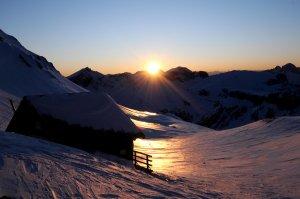 mercoledie venerdi ciaspole tramonto